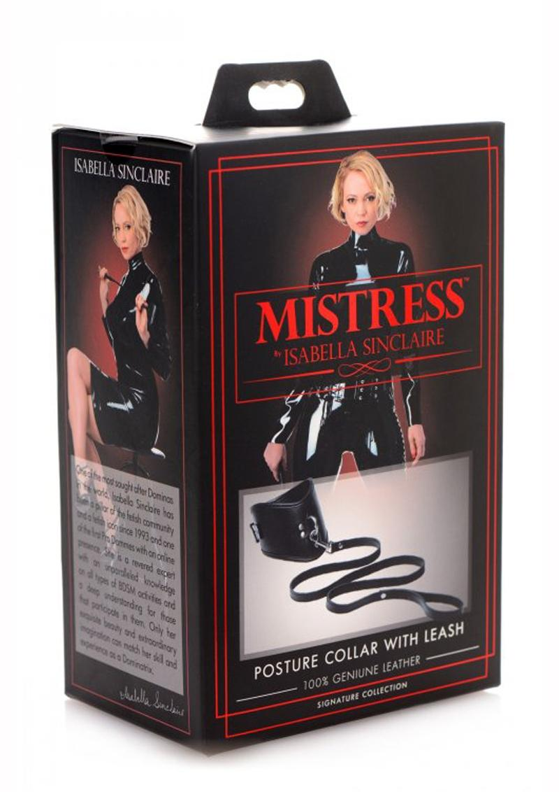 Mistress By Isabella Sinclaire Posture Collar With Leash