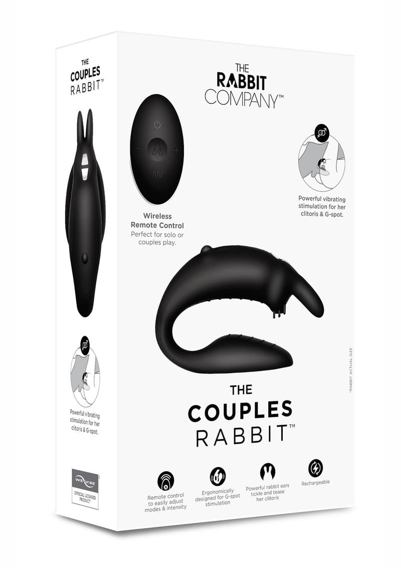 The Rabbit Company The Couples Rabbit Silicone Black