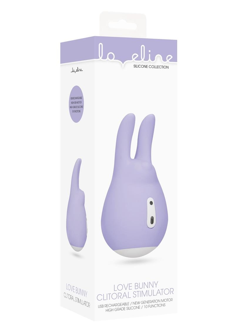 Loveline Love Bunny Clitoral Stimulator Silicone Rechargeable Waterproof Purple