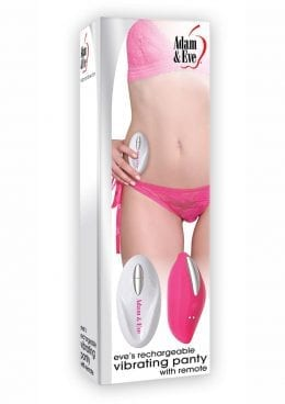 Adam and Eve Eve`s USB Rechargeable Vibrating Panty With Remote Pink