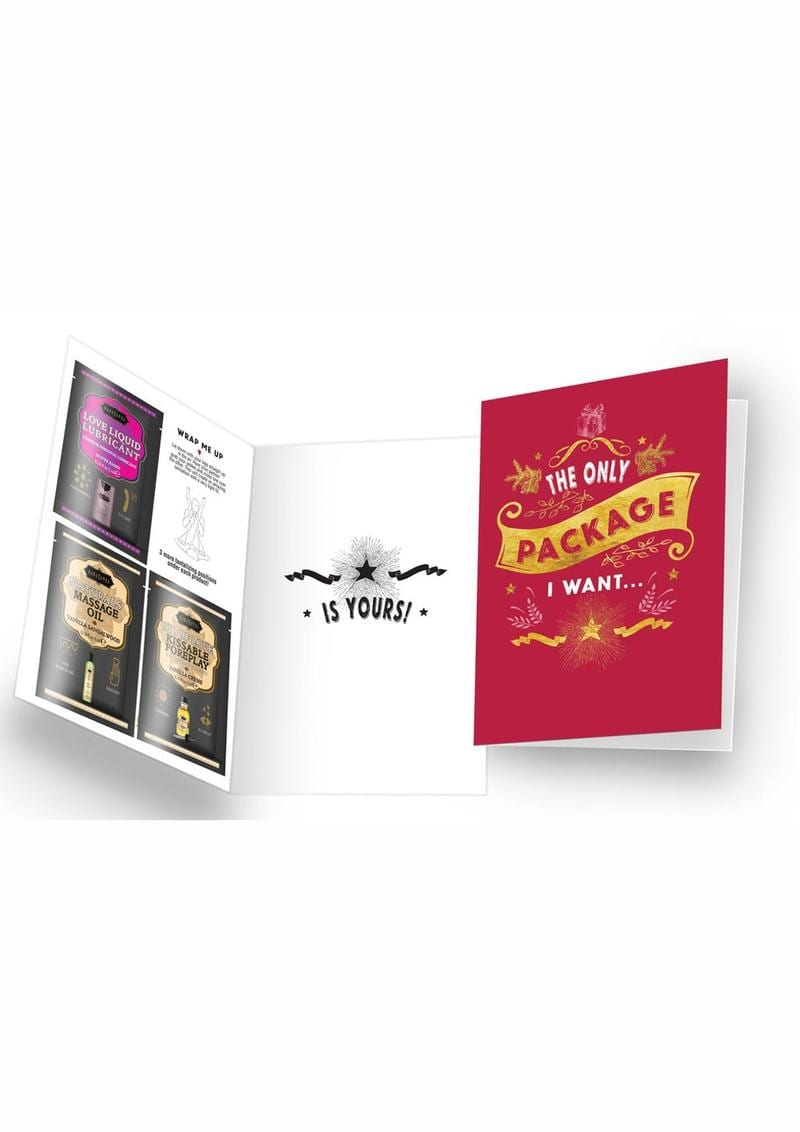 Naughty Notes Greeting Card The Only Package I Want With Lubricants