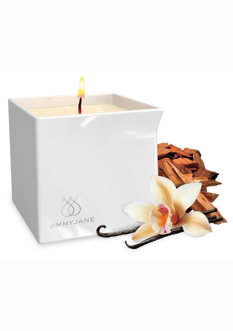 JimmyJane Afterglow Natural Massage Oil Candle Vanilla Sandalwood 4.5 Ounces