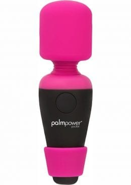 Palmpower Pocket Massager Silicone USB Rechargeable Water Resistant Pink 3.5 Inches