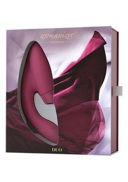 Womanizer Duo Clitoral And G-Spot Stimulator Silicone USB Rechargeable Waterproof Bordeaux