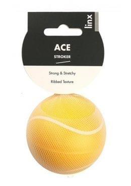 Linx Ace Stroker Ball Masturbator Ribbed Textured Waterproof Yellow
