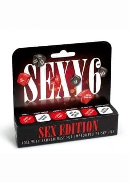 Sexy 6 Sex Ed Dice Game Couples Play Red