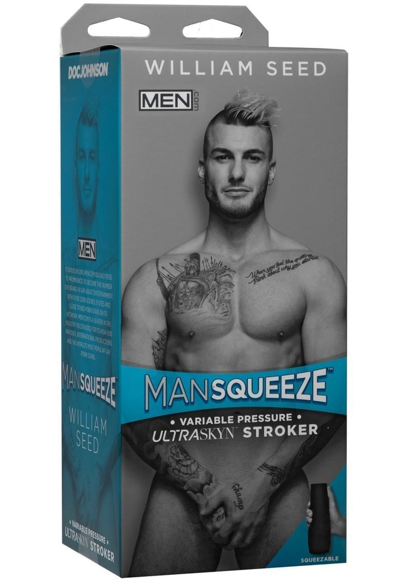 Man Squeeze William Seed Ultraskyn Stroker Variable Pressure Anal Masturbator Textured Flesh