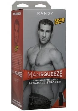 Man Squeeze Randy Ultraskyn Stroker Variable Pressure Anal Masturbator Textured Flesh