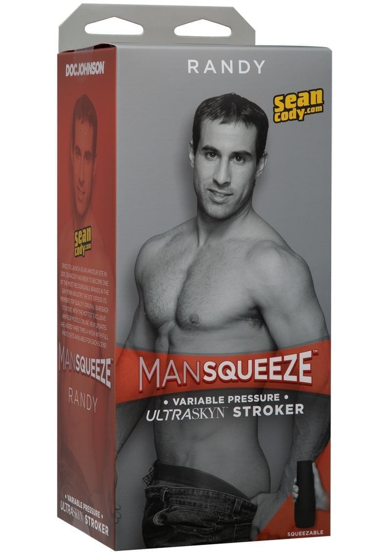 Man Squeeze Randy Ultraskyn Stroker Variable Pressure Anal Masturbator Textured Flesh