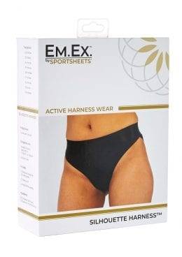 EM. EX. Active Harness Wear Silouette Harness Bikini Cut Black Extra Small-20-22