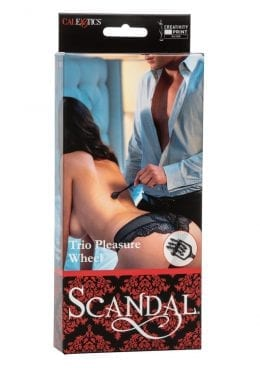 Scandal Trio Pleasure Wheel Bondage-Fetish Black