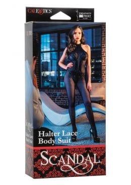 Scandal Halter Lace Body Suit