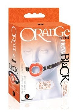 Orange is the New Black Silicone Blowjob Relaxer Bondage/Fetish Orange