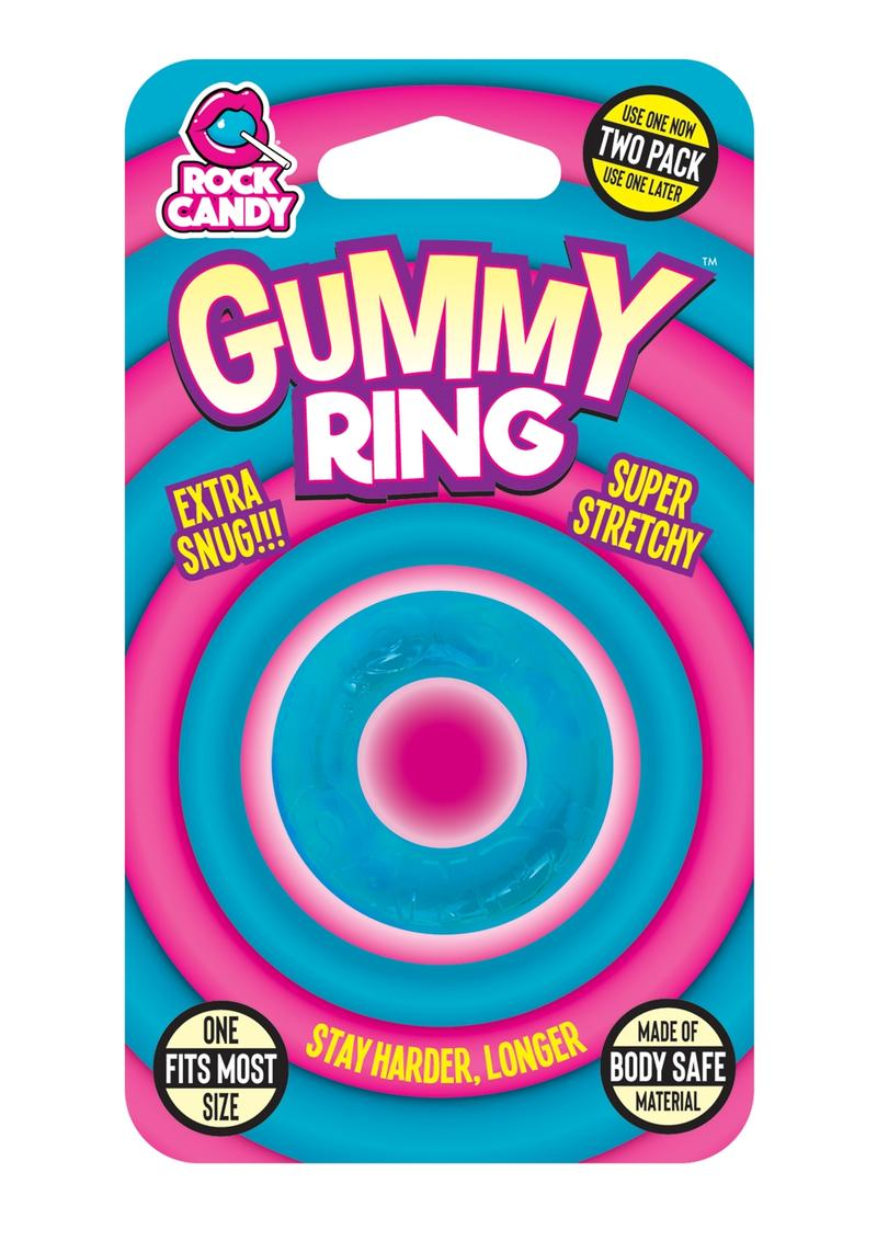 Rock Candy Gummy Ring Blue