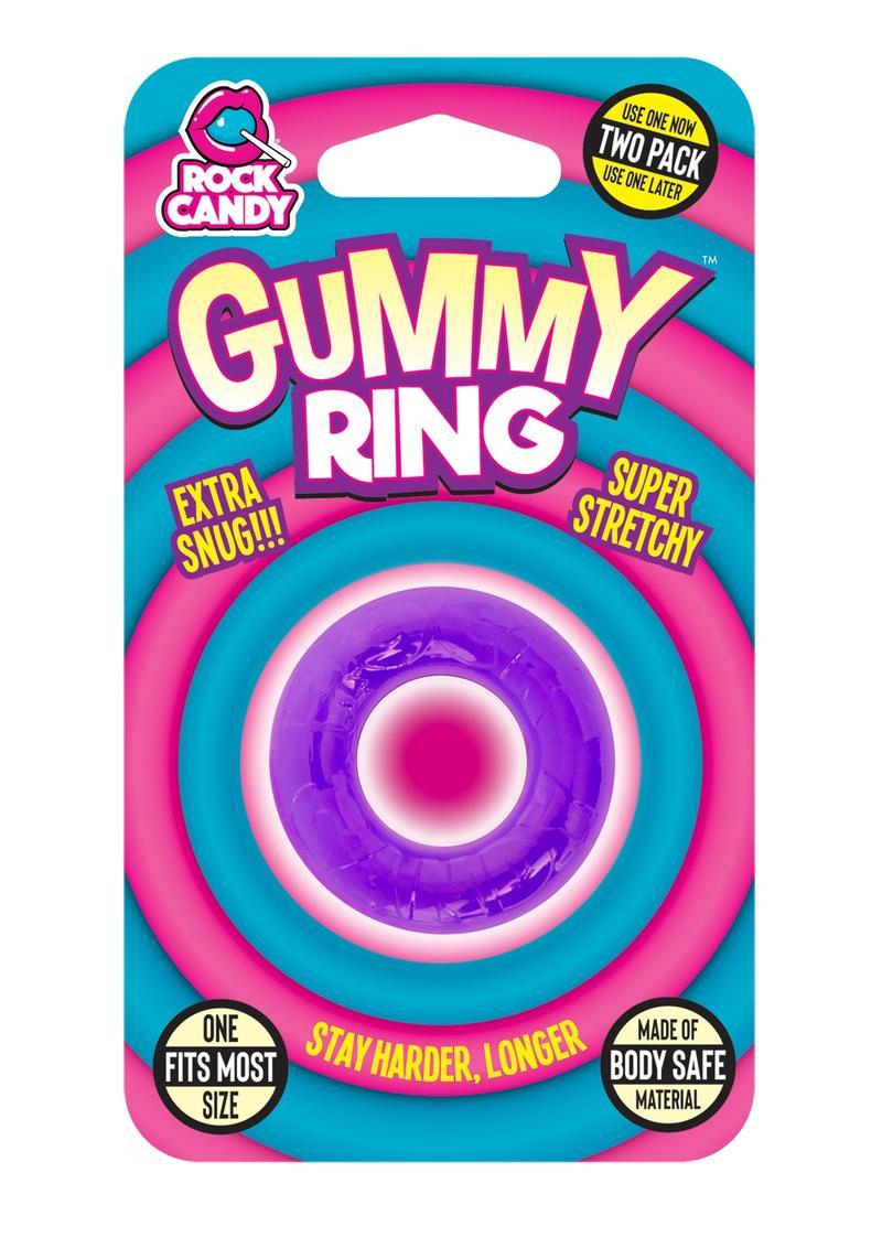 Rock Candy Gummy Ring Purple