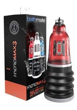 Bathmate Hydromax3 Penis Pump Water Pump Waterproof Brilliant Red