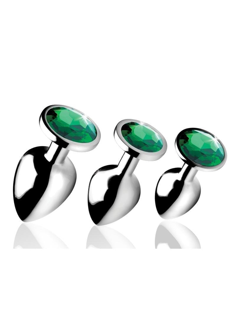 Bootysparks Emerald Gem Plug Set