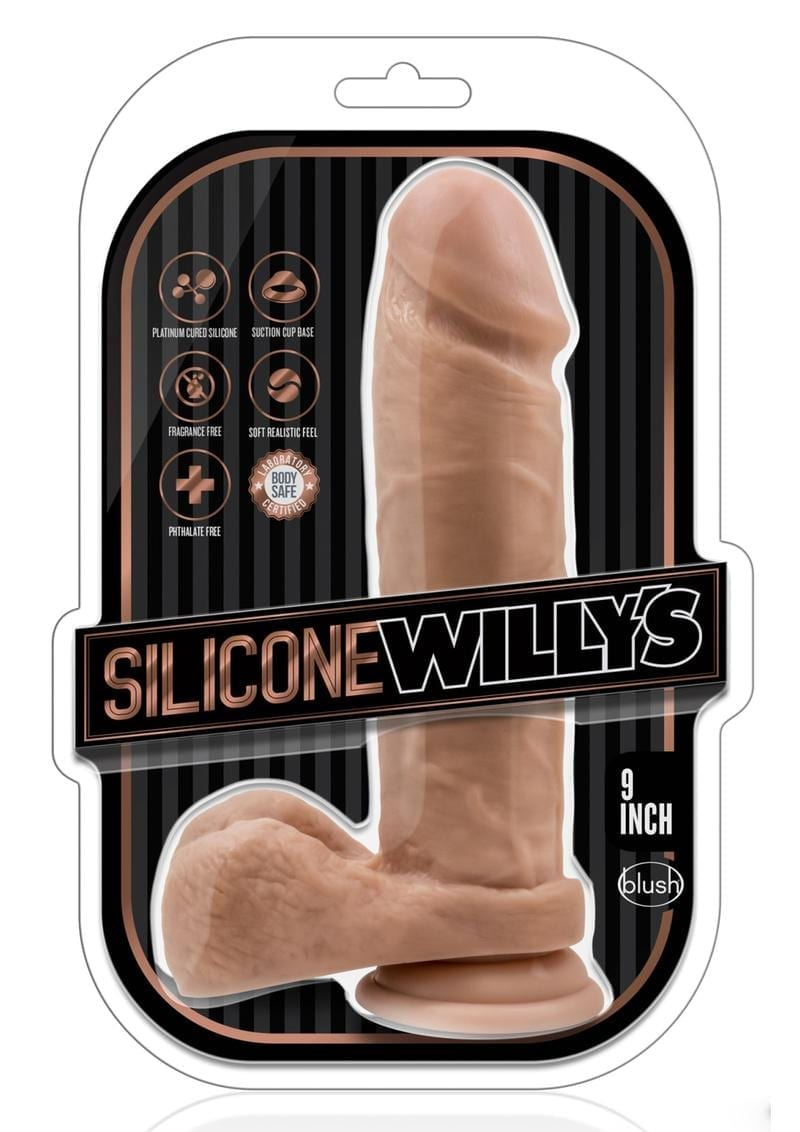 Silicone Willy 9 Dildo W/suction Moc