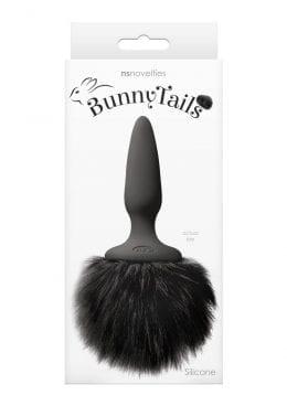 Bunny Tails Mini Anal Plug Black