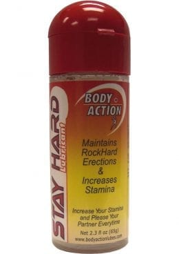 Body Action Stayhard Water Based Lubricant 2.3 Ounce