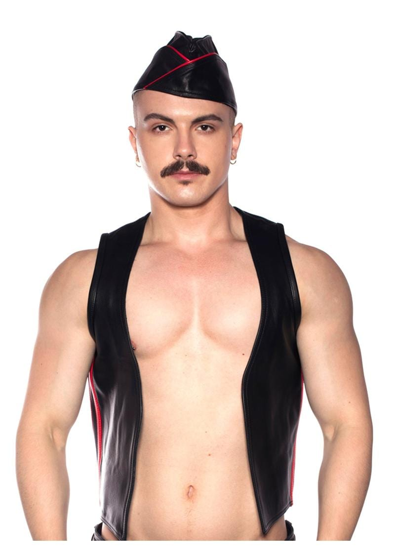 Prowler Red Waistcoat Stripe Blk/red Sm