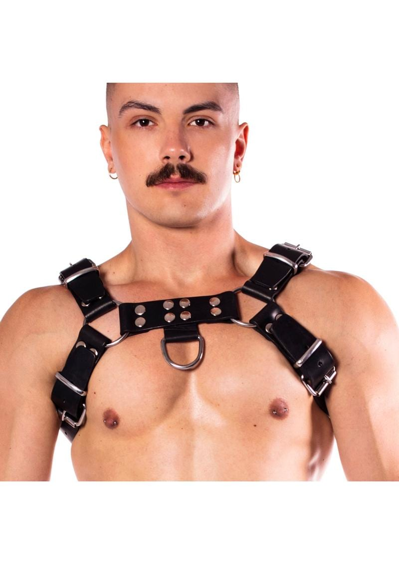 Prowler Red Butch Harness Prem Blk Md