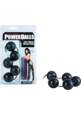 Anna Malles Power Balls Latex Dipped Weighted Pleasure Balls 1.25 Inch Black