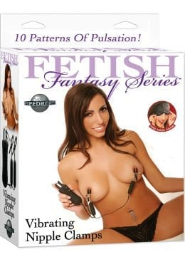Fetish Fantasy Vibrating Nipple Clamps Black