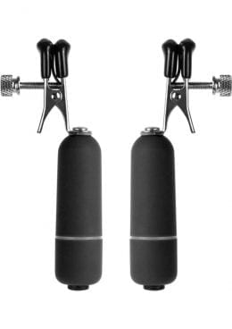 Ouch Vibrating Nipple Clamps Black