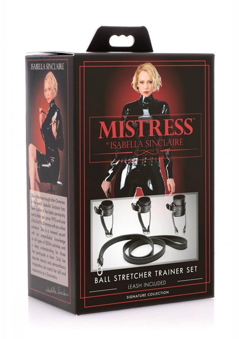 Mistress By Isabella Sinclaire Ball Stretcher Trainer Set Black And Silver