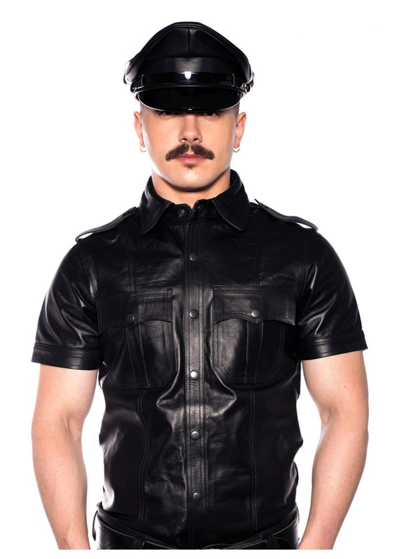 Prowler Red Police Shirt Blk Lg