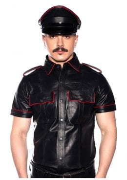 Prowler Red Police Shirt Pipe Blk/red Sm