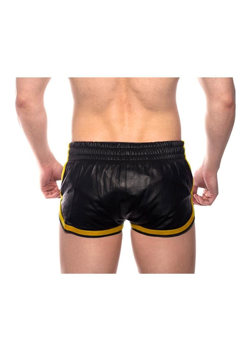 Prowler Red Leather Sport Shorts Yell Xs