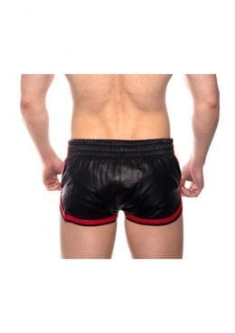 Prowler Red Leather Sport Shorts Redxxxl