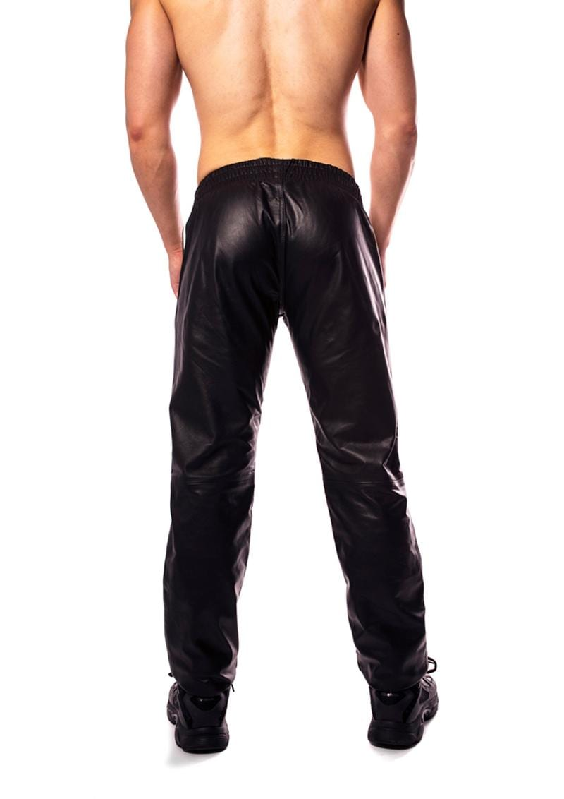 Prowler Red Leather Joggers Wht Sm