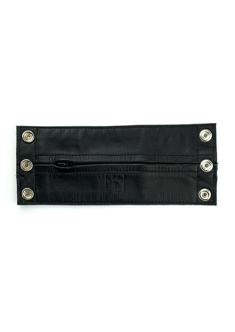 Prowler Red Leather Wrist Wallet Blk Sm