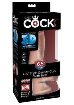 Kc Plus 6.5 Triple Dense Cock W/balls