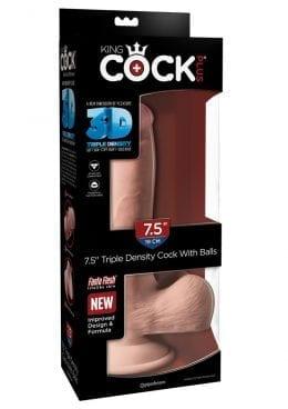 Kc Plus 7.5 Triple Dense Cock W/balls