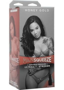 Main Squeeze Honey Gold UltraSkyn Stroker Pussy Caramel 9 Inches