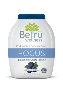 Be Tru Focus Blueberry Acai Shot 2 Oz Beverage Drops