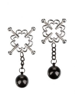 Nipple Grips 4-Point Weighted Nipple Press – Silver/Black