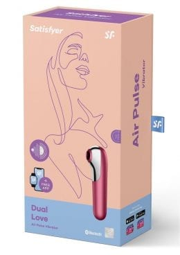 Satisfyer Dual Love Rechargeable Silicone Vibe With Clitoral Stimulator - Pink